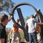 unloading the sculpture
